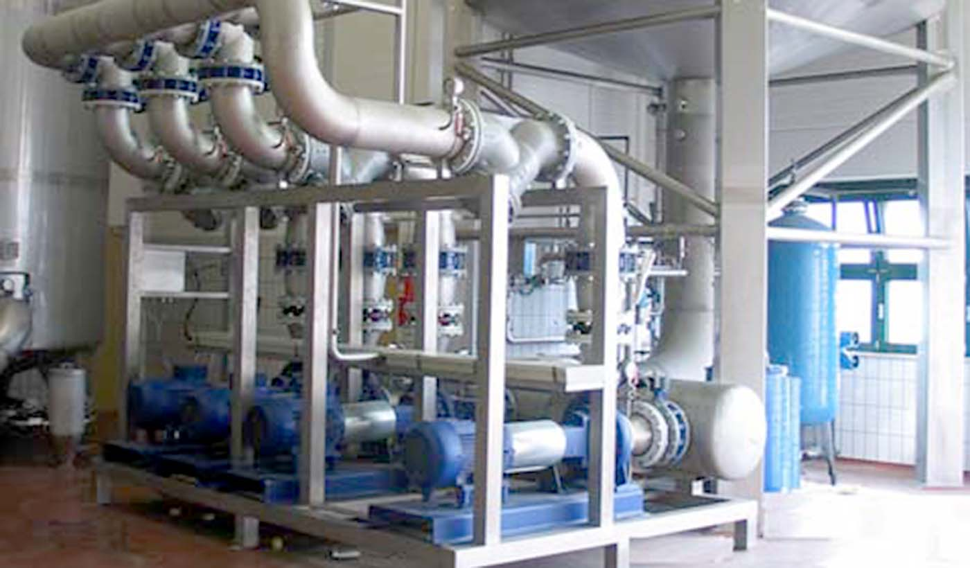 Pumpenstationen für Kühlwasser, Leistung bis 1000 m³/h